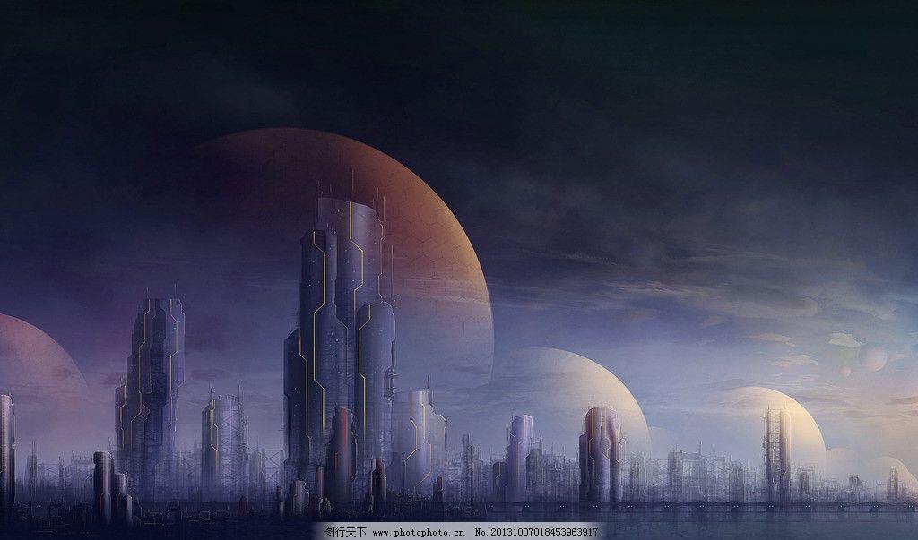 未来城市 未来设计 星球 科幻世界 高楼 动漫动画