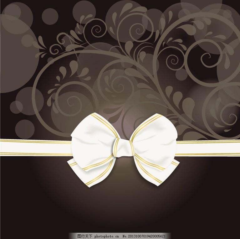 蝴蝶结卡片背景 圣诞卡片背景 圣诞节 欧式花纹 2014 新年 蝴蝶结