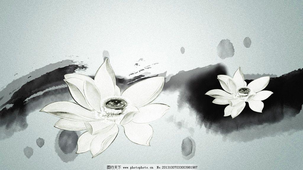 荷花 仙鹤 国画 中国画 花鸟画 工笔画 山水画 风景画 年画 丹顶鹤