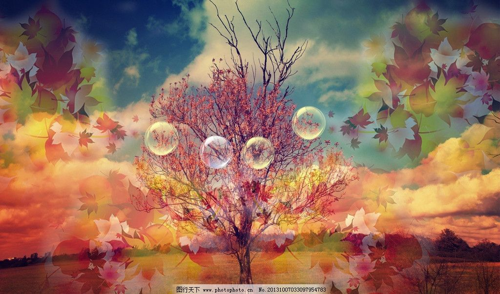 树叶飘落图片图片