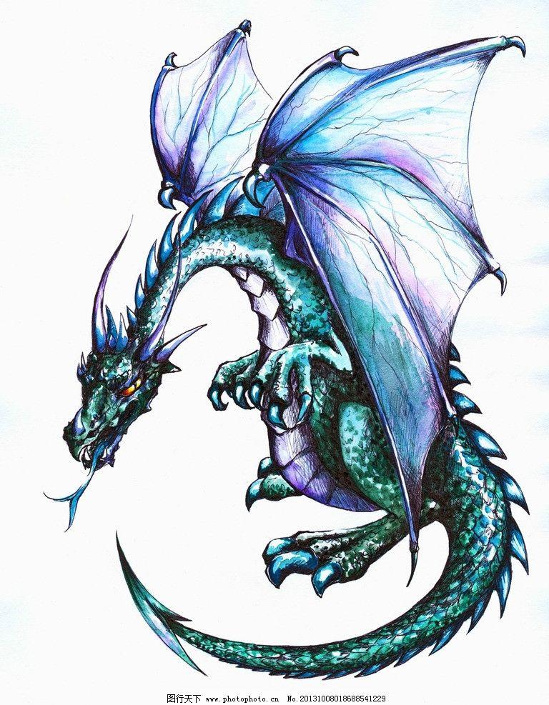 神龙 龙 动漫 图腾 飞龙 绘画 其他 动漫动画 设计 72dpi jpg