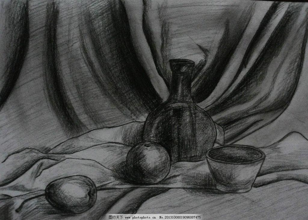 素描静物 铅笔画 静物素描 手绘 花瓶