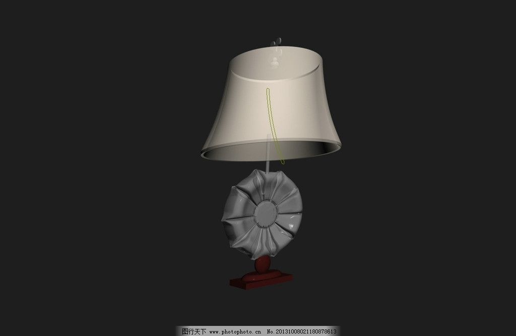 台灯模型 台灯 欧式台灯 欧式台灯模型 欧式灯具模型 效果图3d文件