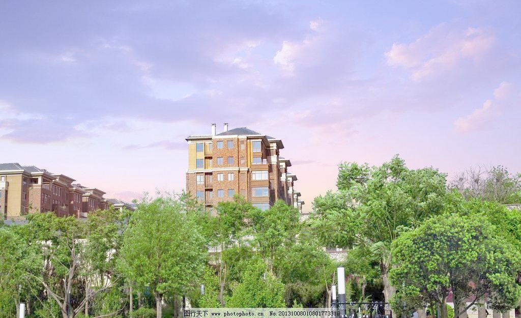 草坪 地产广告 房地产广告 公园 广告设计模板 湖景 花池 花坛 欧式