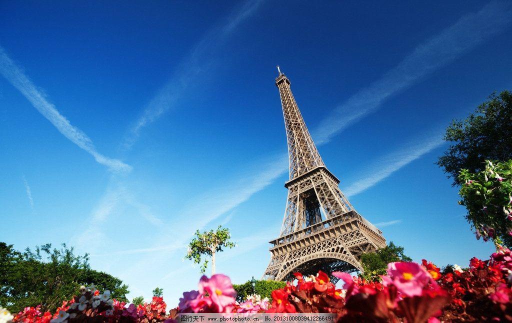 巴黎铁塔明朗高清摄影图片
