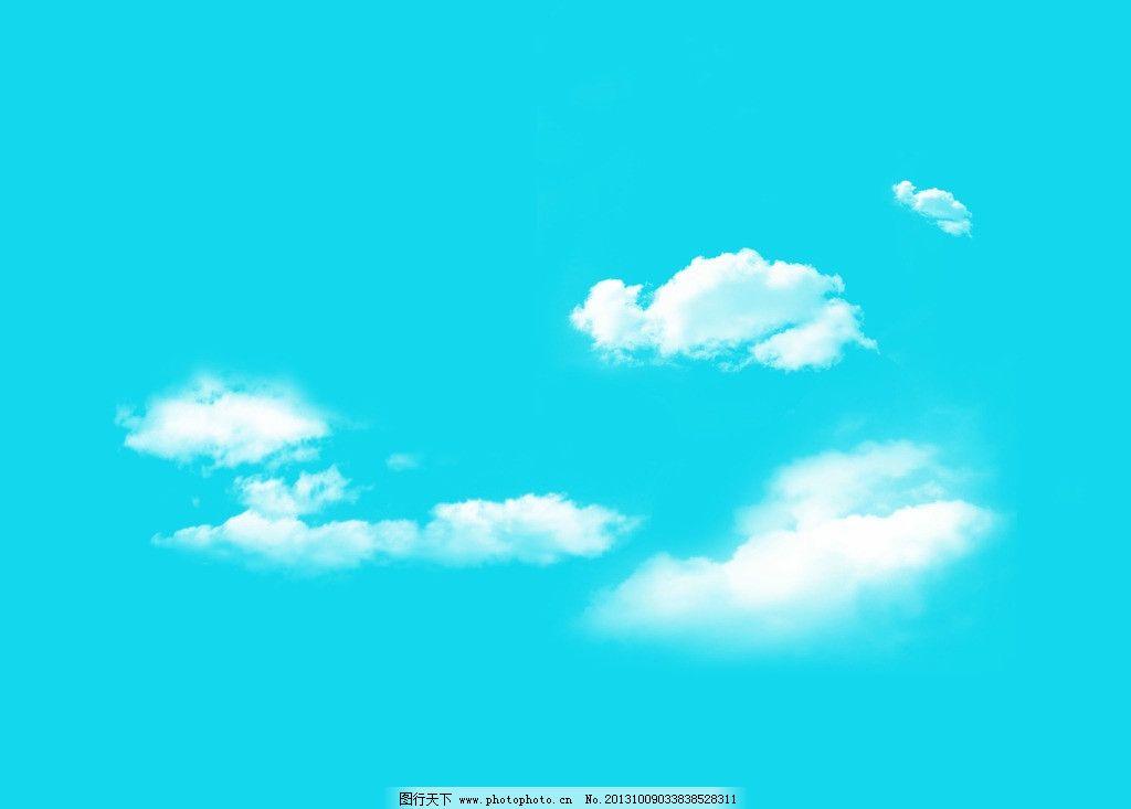 手绘天空和云朵