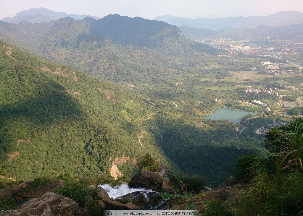 绿色森林 高山 青山 流水 泉水 大自然 山峦 巅峰 山水风景 自然景观