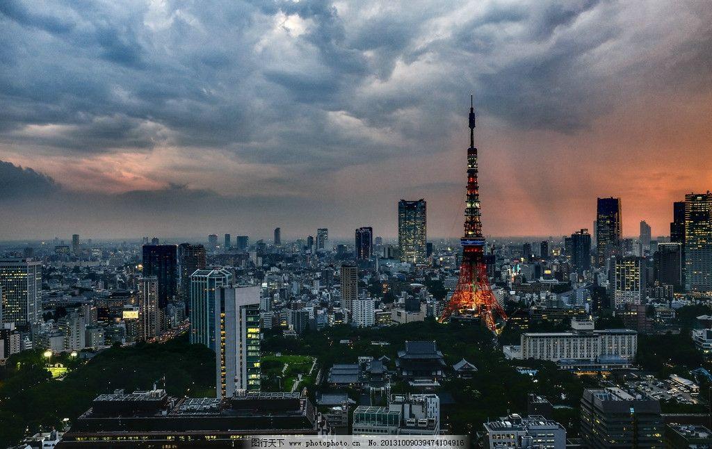 发光东京铁塔高清摄影图片