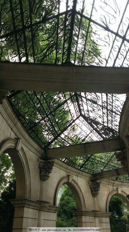 亭廊 庭院 花园 走廊 欧式 建筑摄影 建筑园林 摄影 72dpi jpg