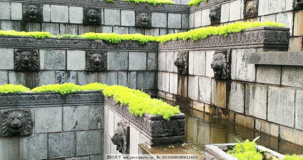 水池 庭院 花园 欧式 水 景观 园林建筑 建筑园林 摄影 72dpi jpg