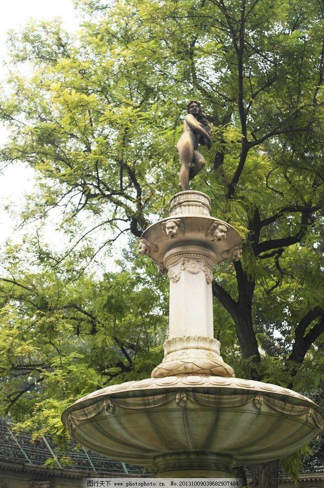 园林雕塑 庭院 花园 欧式 公园 建筑 自然 雕塑 人物 建筑园林 摄影 3