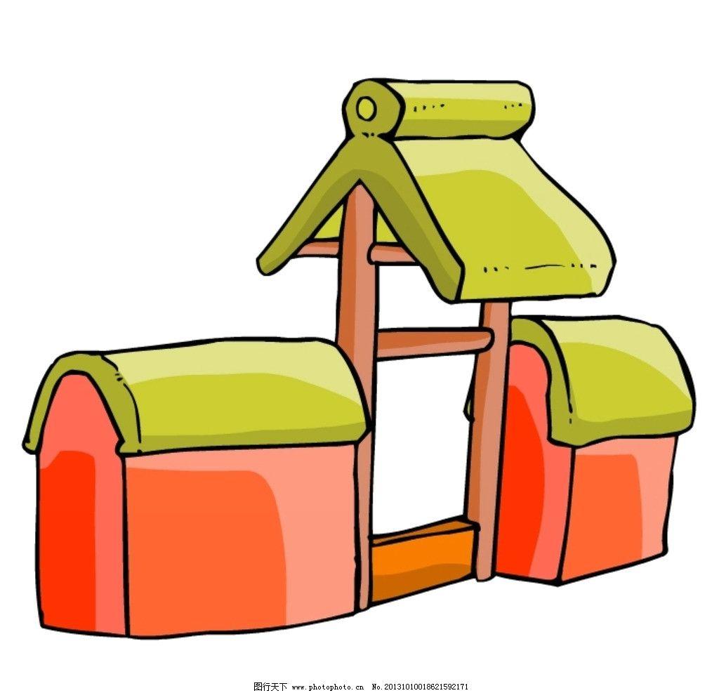 卡通 中式建筑 中国 中式 古代 古典 建筑 房子 其他 动漫动画 设计