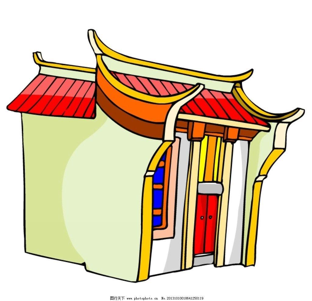 卡通 中式建筑 中国 中式 古代 古典 建筑 房子 其他 动漫动画 设计 7
