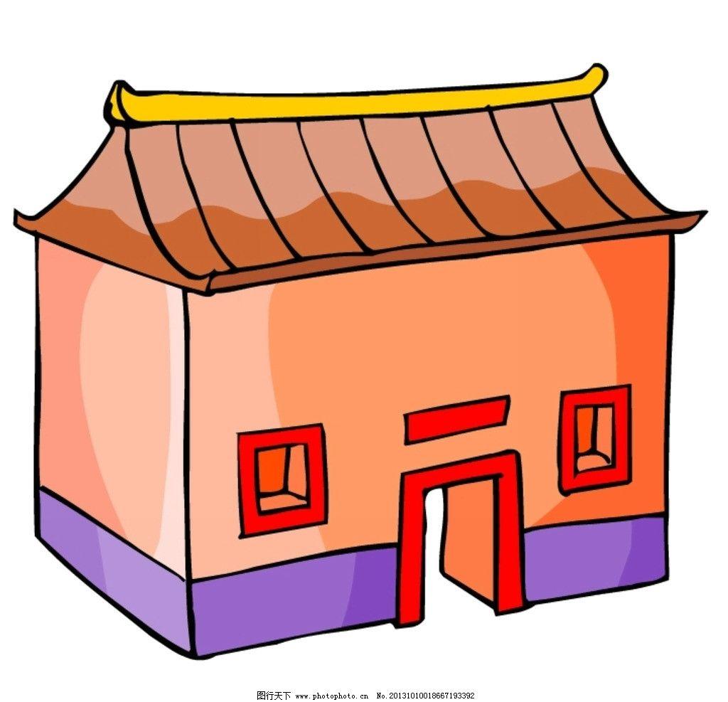 卡通 中式建筑 中国 古代 古典 房子 动漫动画图片