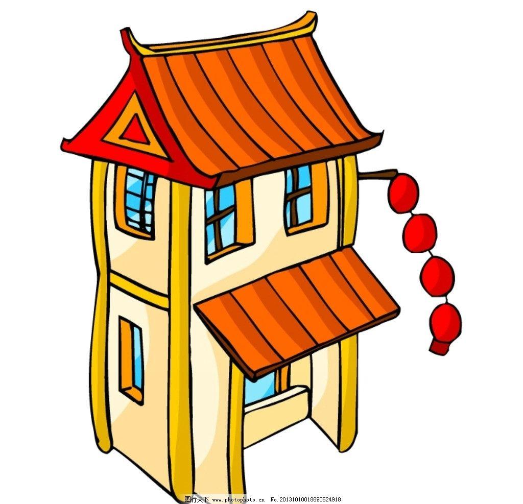 卡通 中式建筑图片
