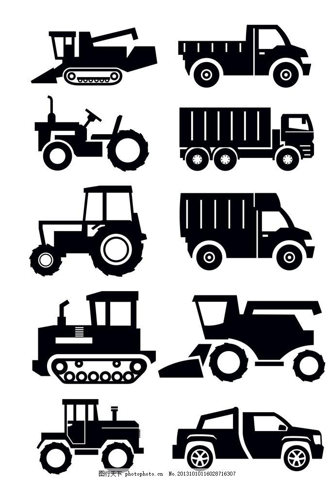 设计图库 高清素材 商业金融  汽车 农用车 商务车 货运 运输 矢量