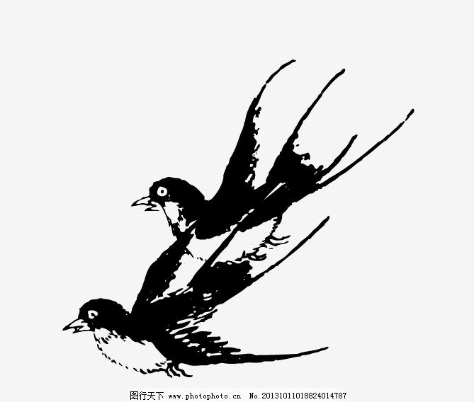 燕子 吉祥动物 吉祥文化 飞燕 吉祥图像 矢量