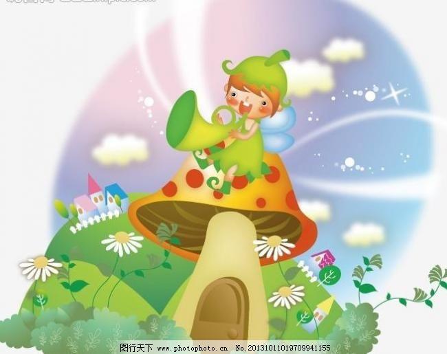 插图 儿童画 儿童幼儿 儿童插画 风景 花草 梦幻 秋天 树叶 动物 可爱
