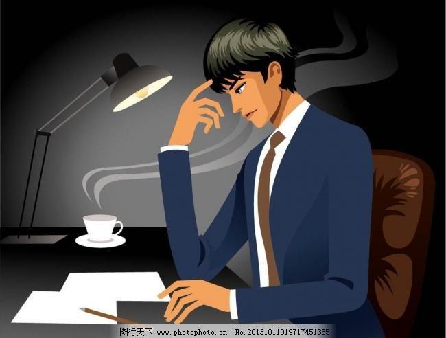 办公 工作 广告设计 咖啡 卡通设计 亲情 时尚插画 手绘插画 加班矢量