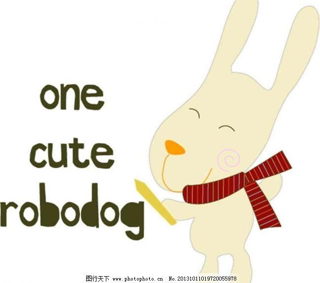 小兔子 宠物 可爱 插画 背景画 动漫 卡通 时尚背景 背景元素 图画