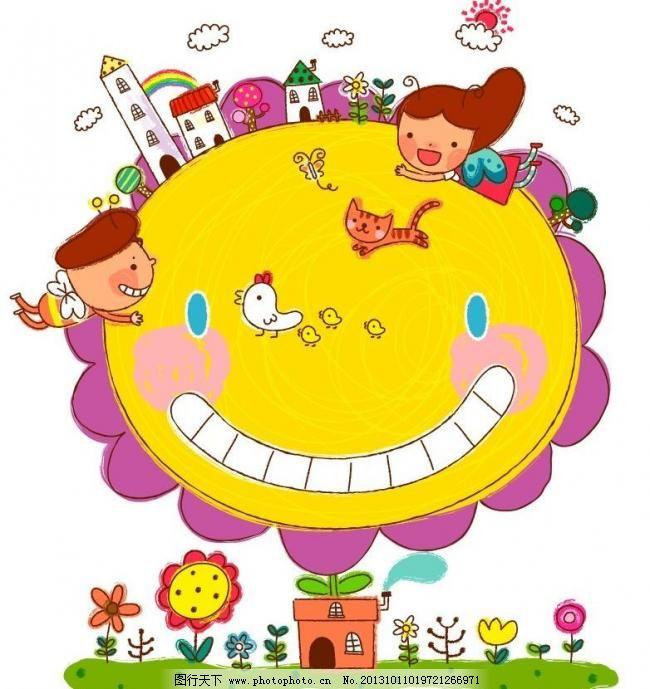 卡通儿童插画图片