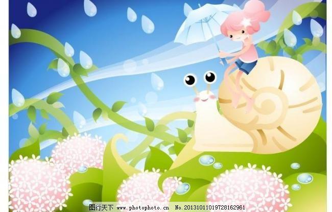 儿童插画 版画 彩铅画 动物 儿童插图 儿童画 风景 风景 花草