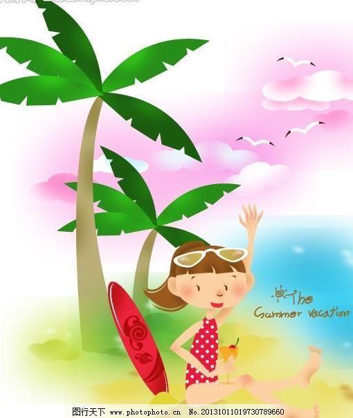 儿童插图 儿童画 风景 儿童插画 风景 花草 梦幻 秋天 树叶 动物 可爱