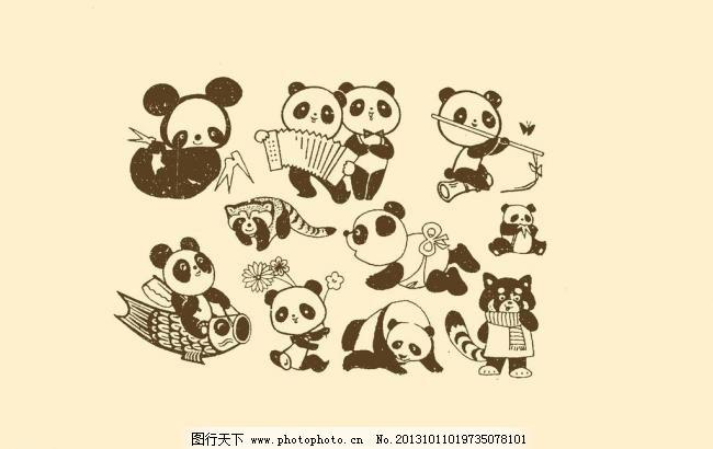 图案 动物插画 插图 版画 简笔画 风光 装饰画 儿童画 线条 手绘 幼儿