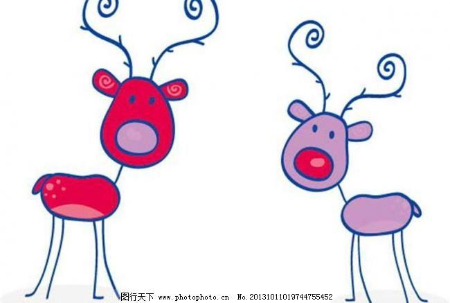 幼儿小鹿可爱简笔画