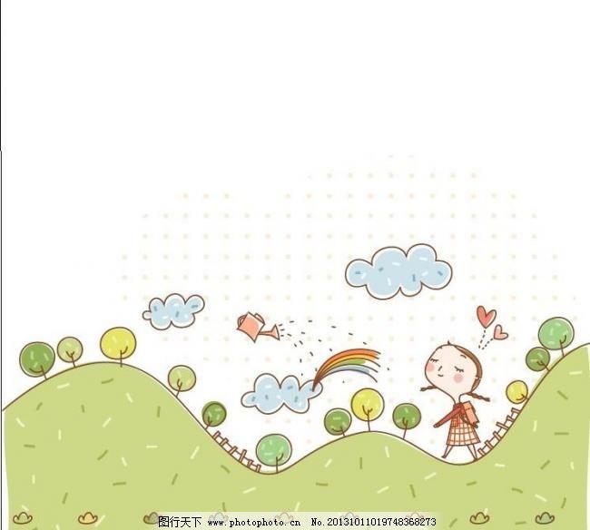 eps 版画 边框相框 彩铅画 插画 底纹边框 儿童插图 儿童画 儿童幼儿