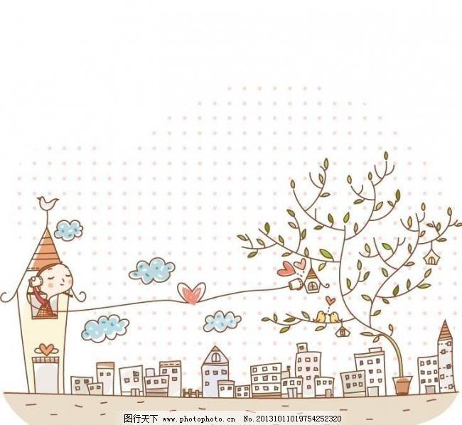 儿童与地球 版画 边框相框 彩铅画 插画 底纹边框 儿童插图 儿童画