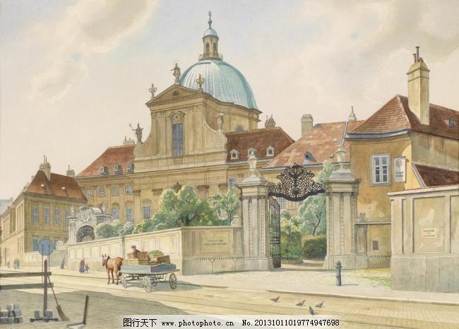 漫画中的欧式建筑