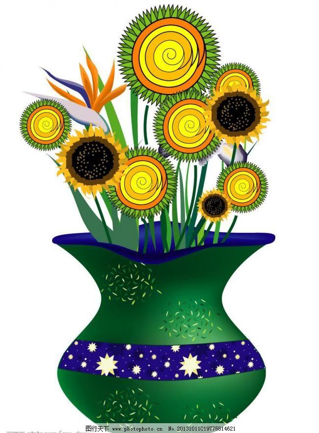 花瓶插花图片