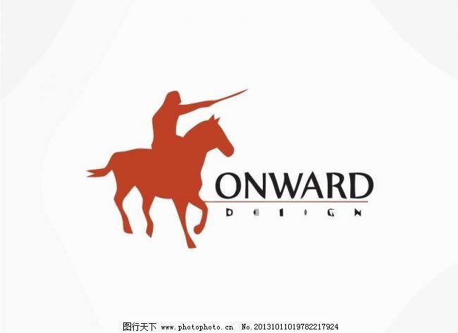 野马logo 版式 奔马 标 标记 标签 标志 外国 国外 西方