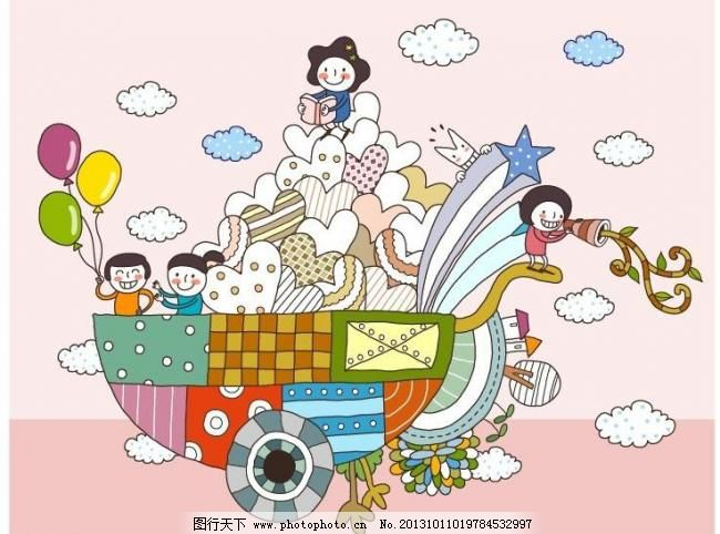 ai 版画 边框相框 彩铅画 插画 底纹边框 儿童插图 儿童幼儿 卡通画