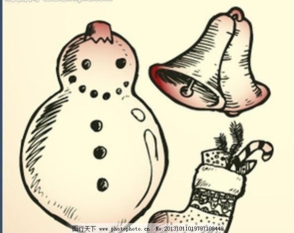 手绘圣诞礼物图片