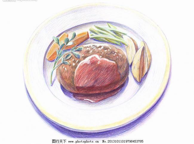 彩铅 绘画 美食图片