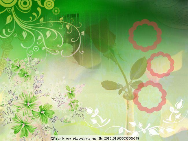 绿色欧式花纹背景