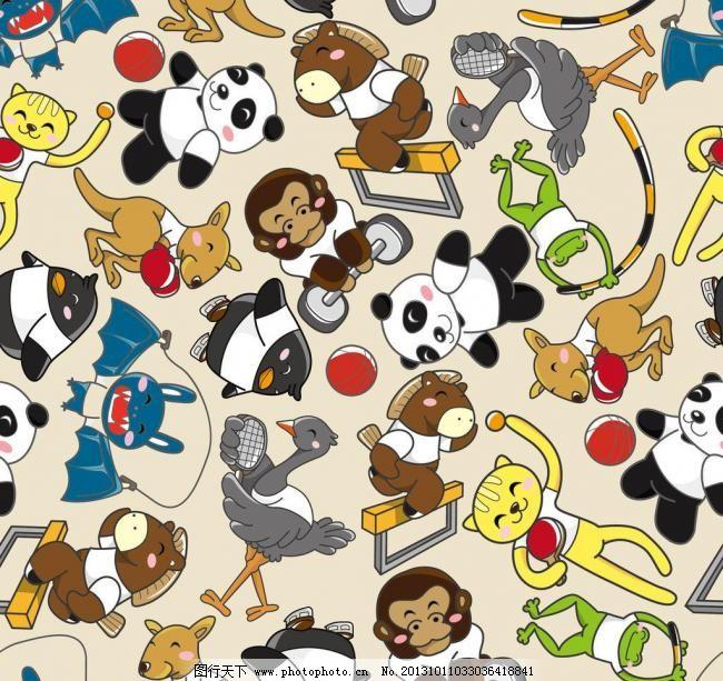 卡通背景 动物运动会图片