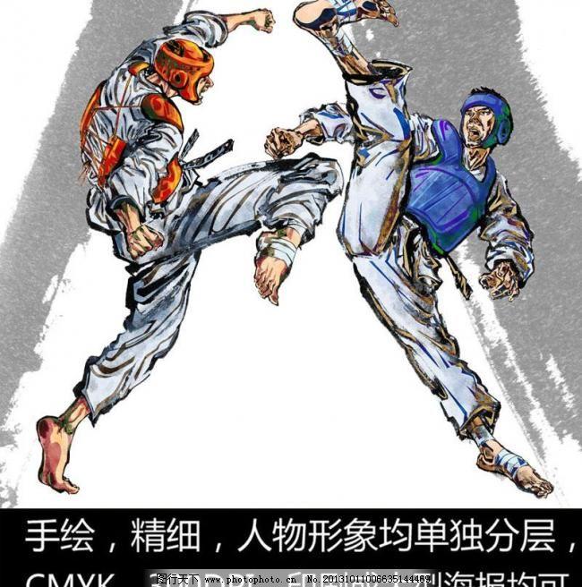 人物画      国画人物 人物图库 人物素材 设计元素 手绘图 力量 肌肉