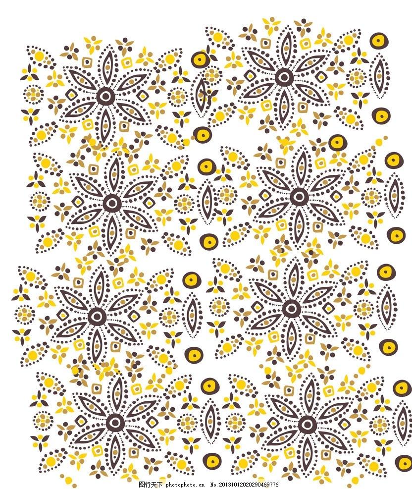 卡通背景 花瓣花纹 可爱卡通背景 卡通玩具无缝背景 碎花 插画