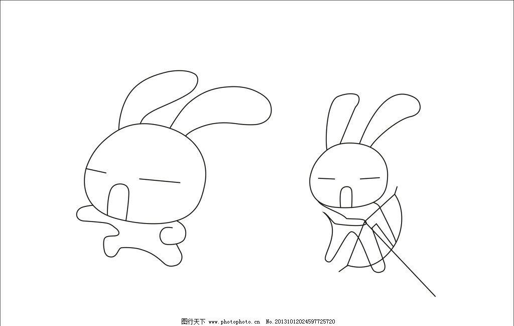 可爱小兔子素描图片