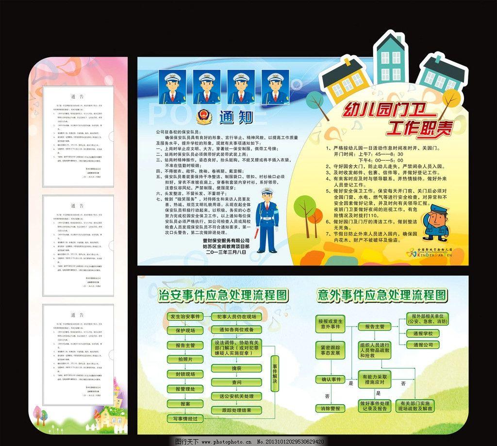 展板设计 版面素材 幼儿园展板 幼儿园素材 矢量警察 卡通背景 可爱