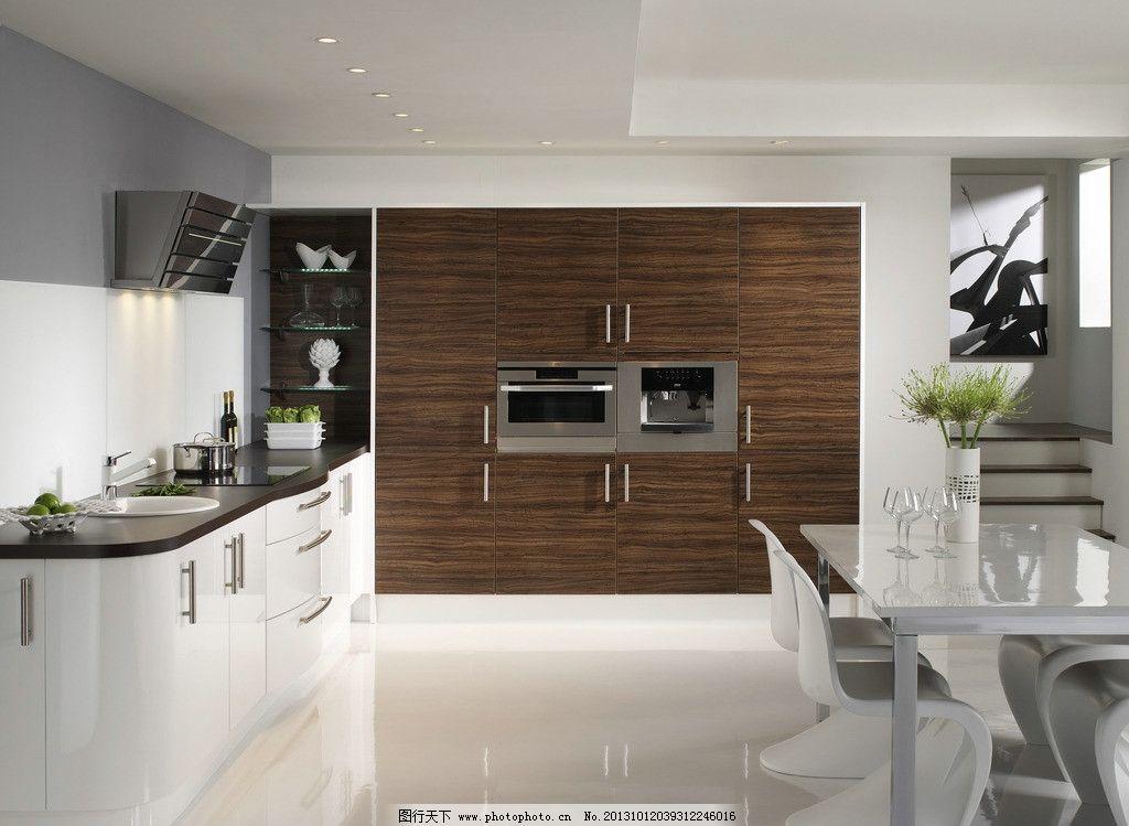 厨灶 天然气灶 餐具 美式厨房 整体厨房 餐厅 桌椅 餐桌 豪宅 别墅
