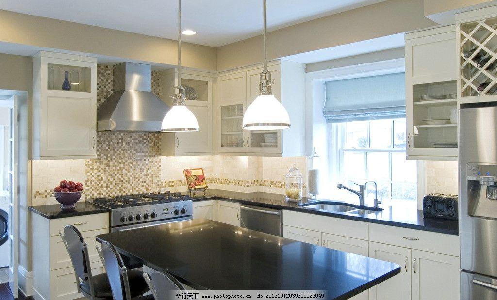 微波炉 厨灶 天然气灶 餐具 美式厨房 整体厨房 餐厅 桌椅 餐桌 豪宅