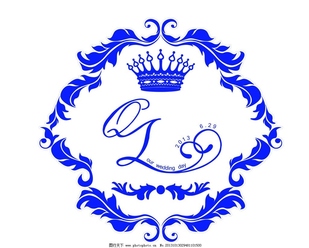 婚礼标志 标识 标志 欧式 边框 皇冠 艺术字体 变形字 婚礼主题 广告