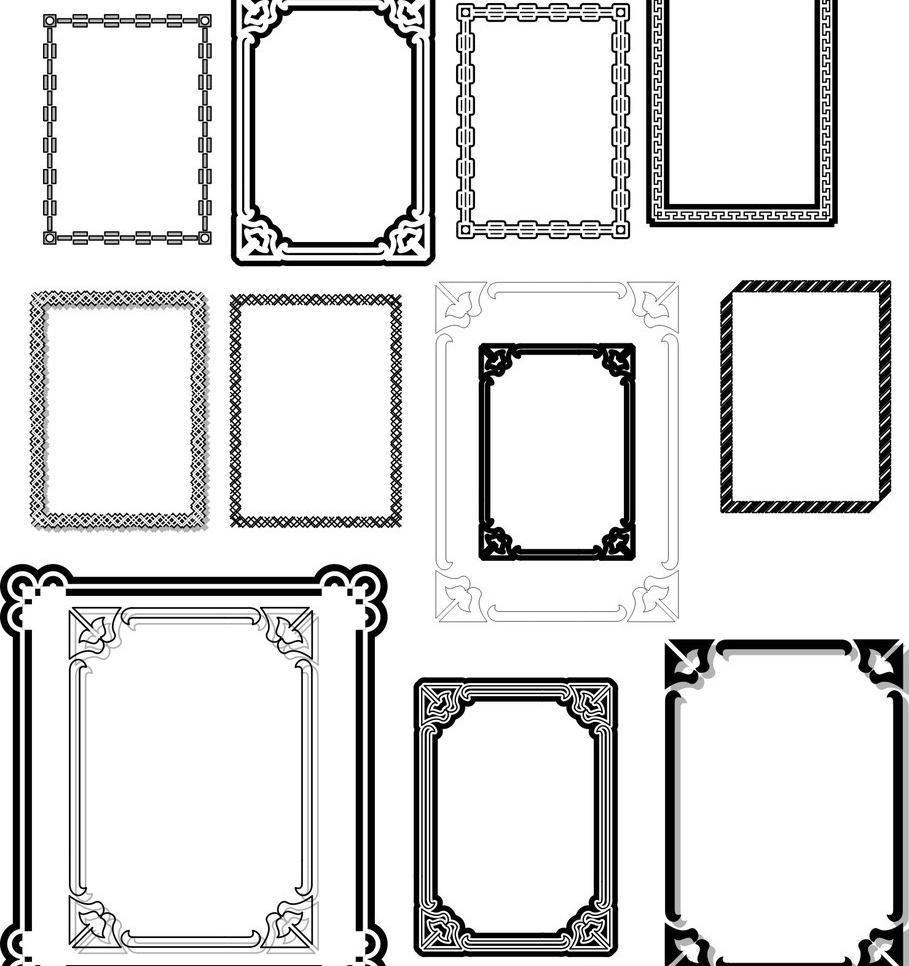 边框素材 边框矢量素材 边框模板下载 边框 相框 图框 欧式 花边 花纹
