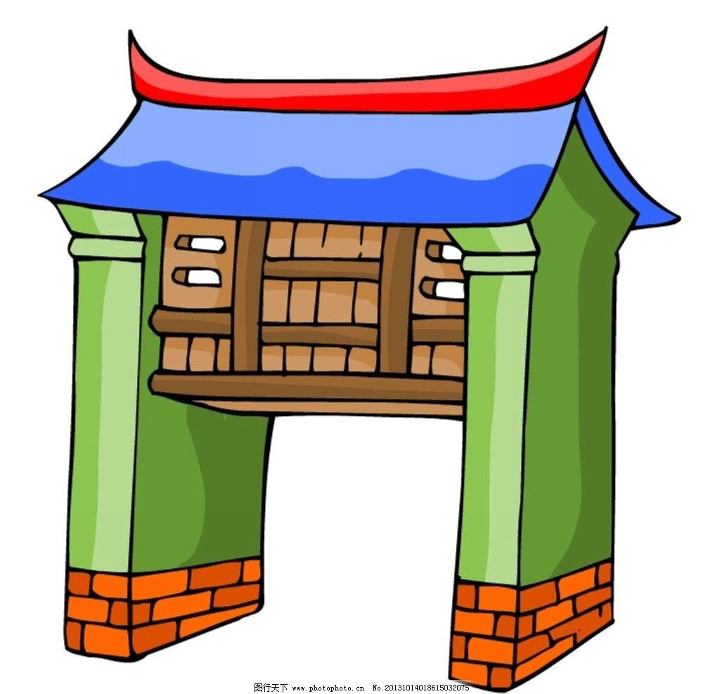 中式建筑 中国 中式 古代 古典 建筑 楼房 其他 动漫动画 设计 72dpi