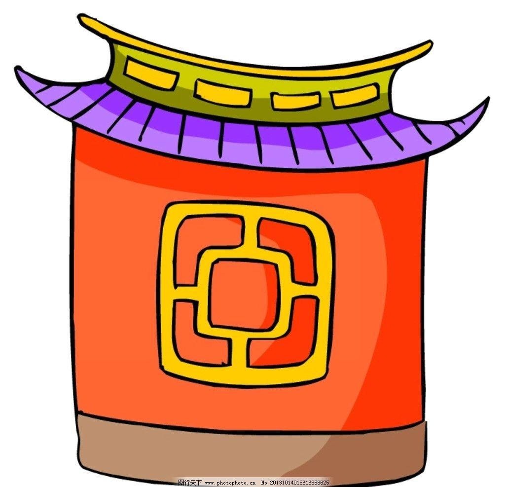 中式建筑图片_其他_动漫卡通_图行天下图库