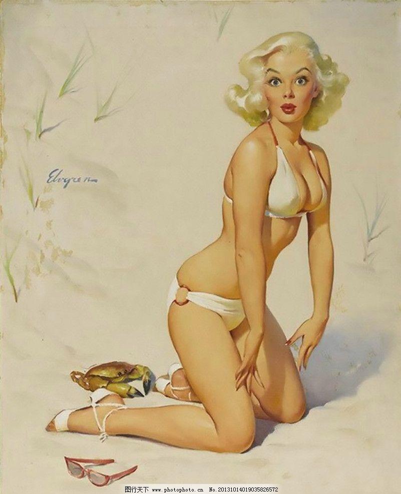 欧美复古招贴画 复古欧美美女 插画设计素材 欧美美女 复古美女 人物 绘画 美女招贴画 绘画书法 文化艺术 设计 Pin up girl 欧美复古美女招贴画 女性妇女 人物图库 性感 美女 泳装 螃蟹 72DPI JPG